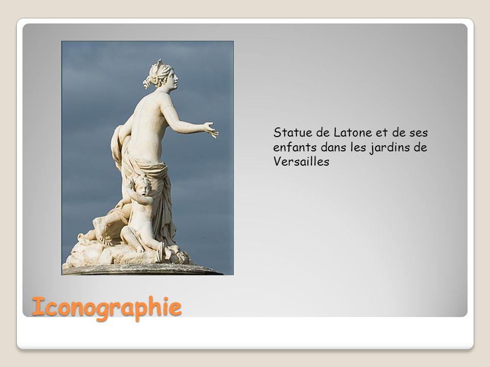 Iconographie Statue de Latone et de ses enfants dans les jardins de Versailles