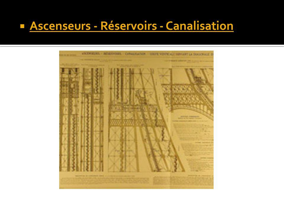 Ascenseurs - Réservoirs - Canalisation