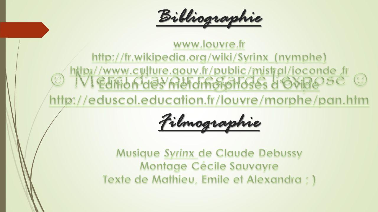 Bibliographie Filmographie