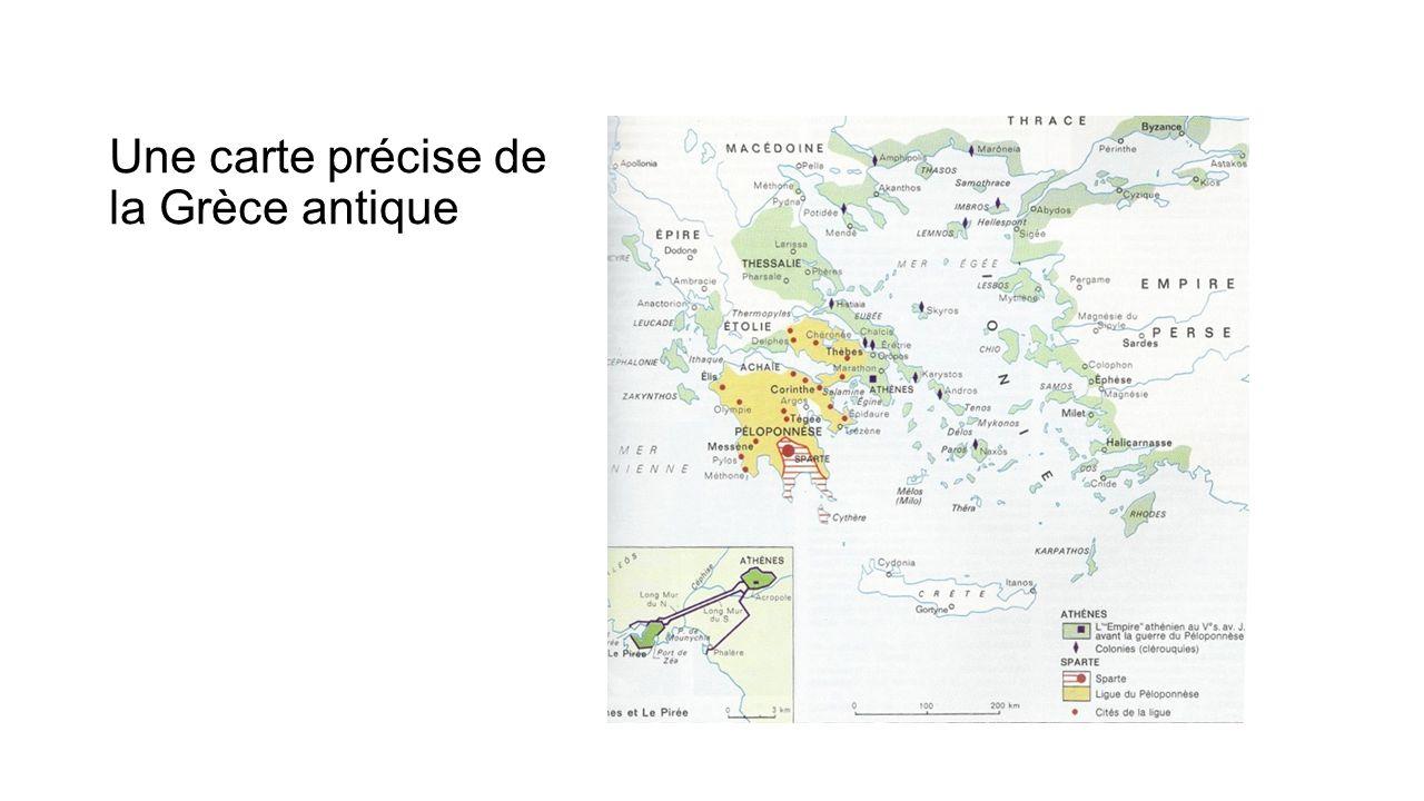 Une carte précise de la Grèce antique