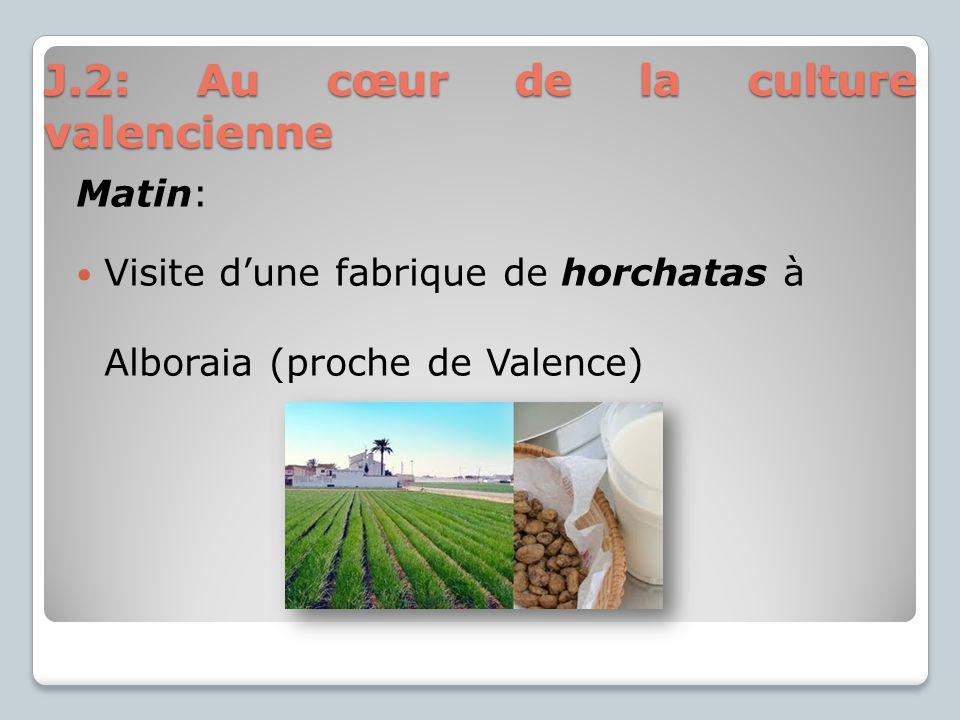 Matin: Visite dune fabrique de horchatas à Alboraia (proche de Valence) J.2: Au cœur de la culture valencienne