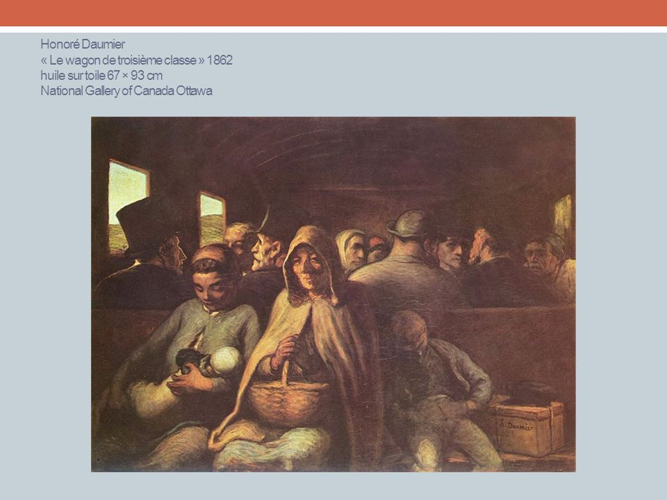 Honoré Daumier « Le wagon de troisième classe » 1862 huile sur toile 67 × 93 cm National Gallery of Canada Ottawa