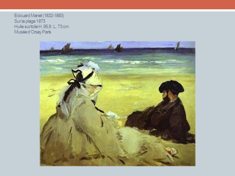 Edouard Manet (1832-1883) Sur la plage 1873 Huile sur toile H. 95,9 ; L. 73 cm Musée dOrsay Paris