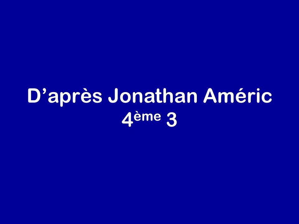 Daprès Jonathan Améric 4 ème 3