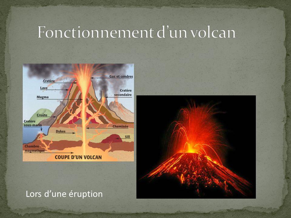Lors dune éruption