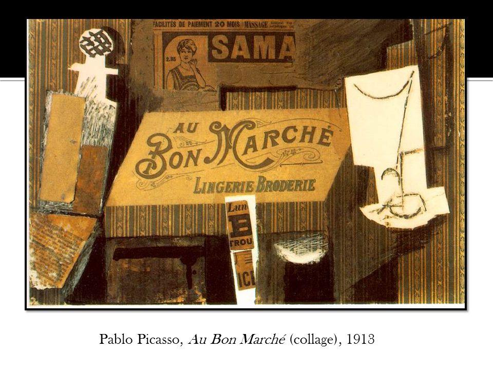 Pablo Picasso, Au Bon Marché (collage), 1913