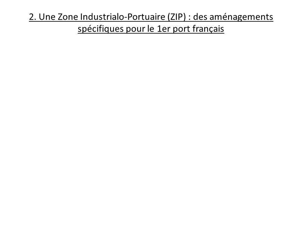 2. Une Zone Industrialo-Portuaire (ZIP) : des aménagements spécifiques pour le 1er port français