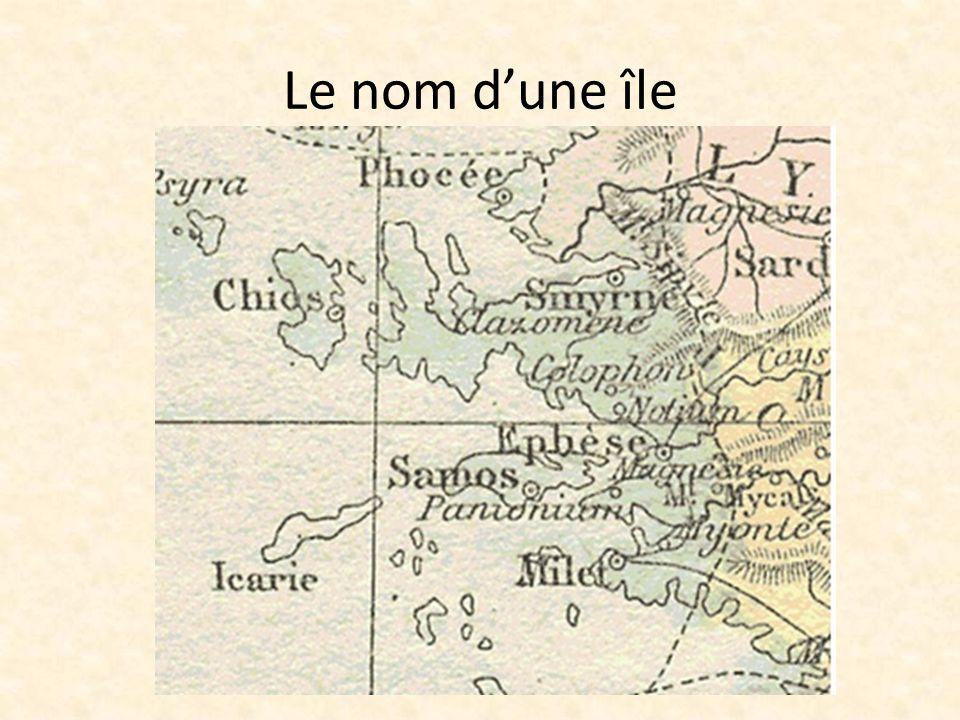 Le nom dune île