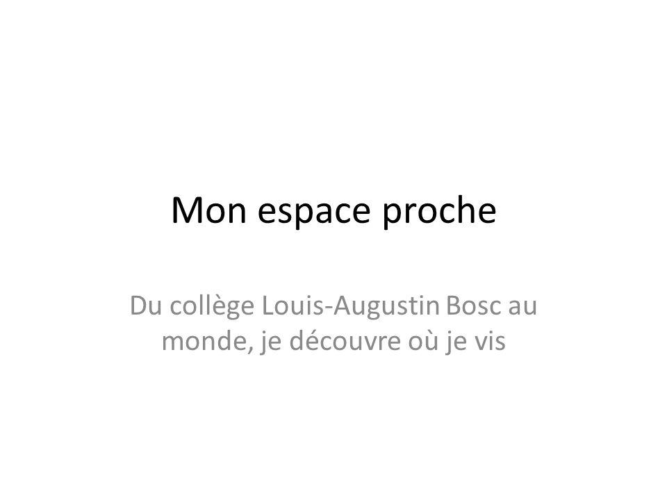 Mon espace proche Du collège Louis-Augustin Bosc au monde, je découvre où je vis