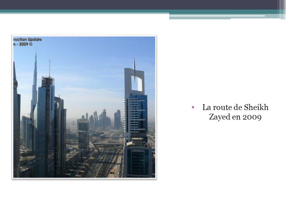 La route de Sheikh Zayed en 2009