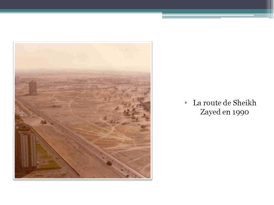 La route de Sheikh Zayed en 1990