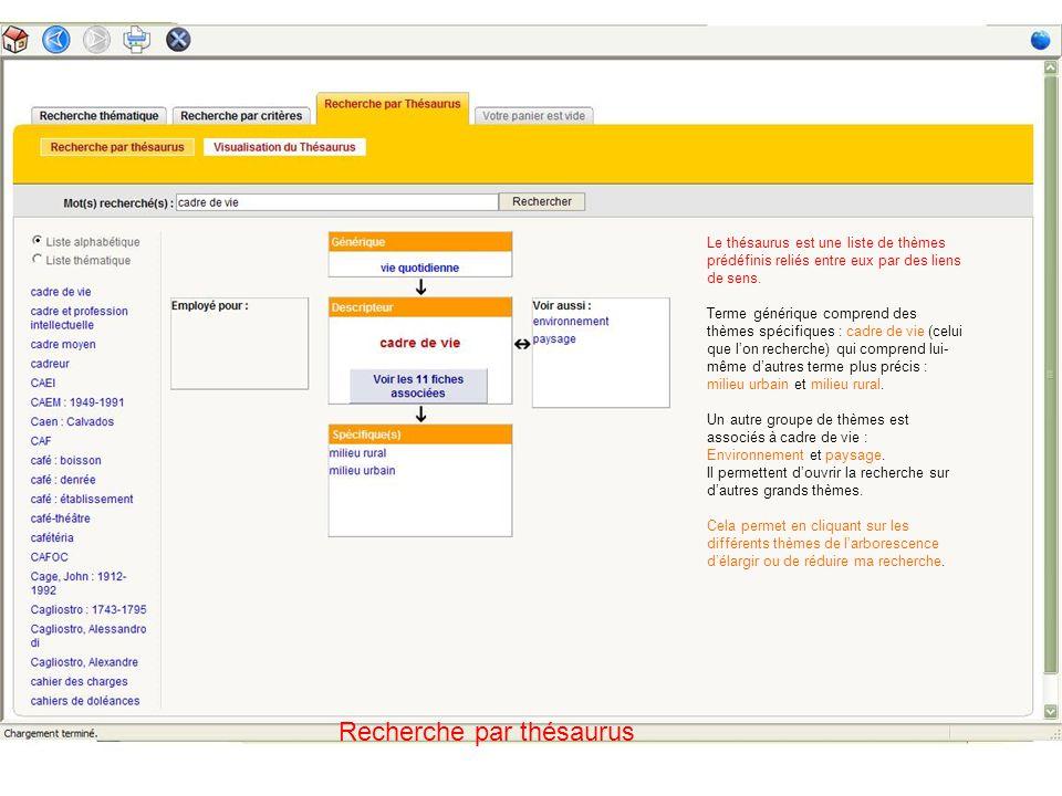 Résultats de la recherche Faire un tri dans les résultats Descripteurs : termes du thésaurus