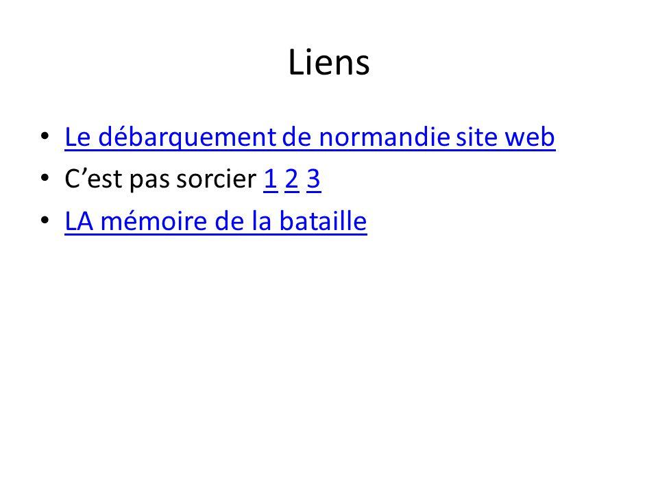Liens Le débarquement de normandie site web Cest pas sorcier 1 2 3123 LA mémoire de la bataille