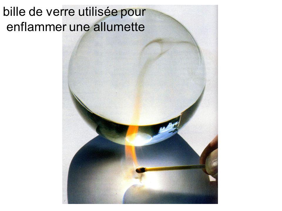 bille de verre utilisée pour enflammer une allumette