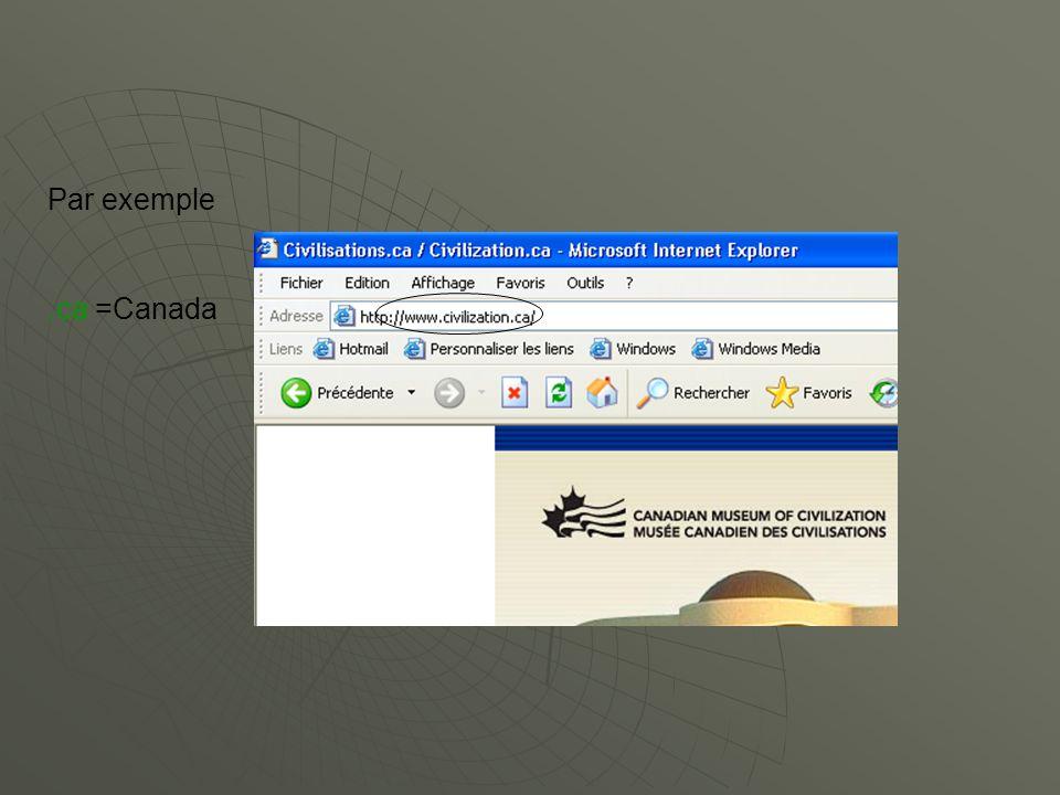 Par exemple.ca =Canada