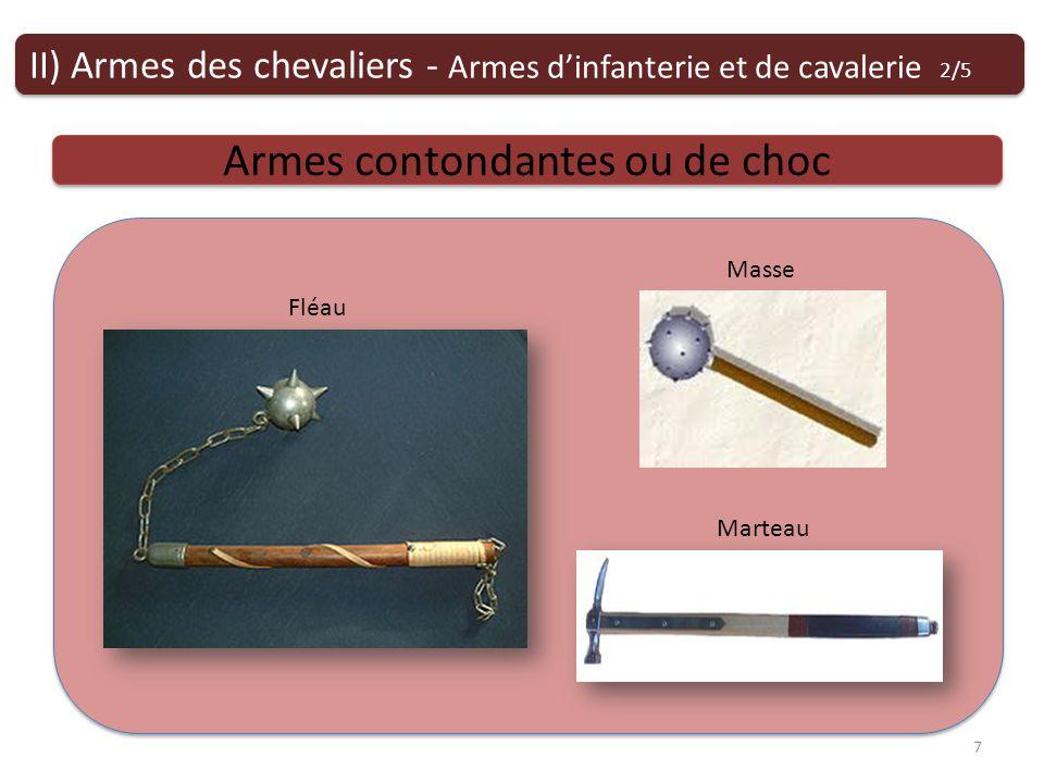 Armes contondantes ou de choc Fléau Marteau Masse II) Armes des chevaliers - Armes dinfanterie et de cavalerie 2/5 7