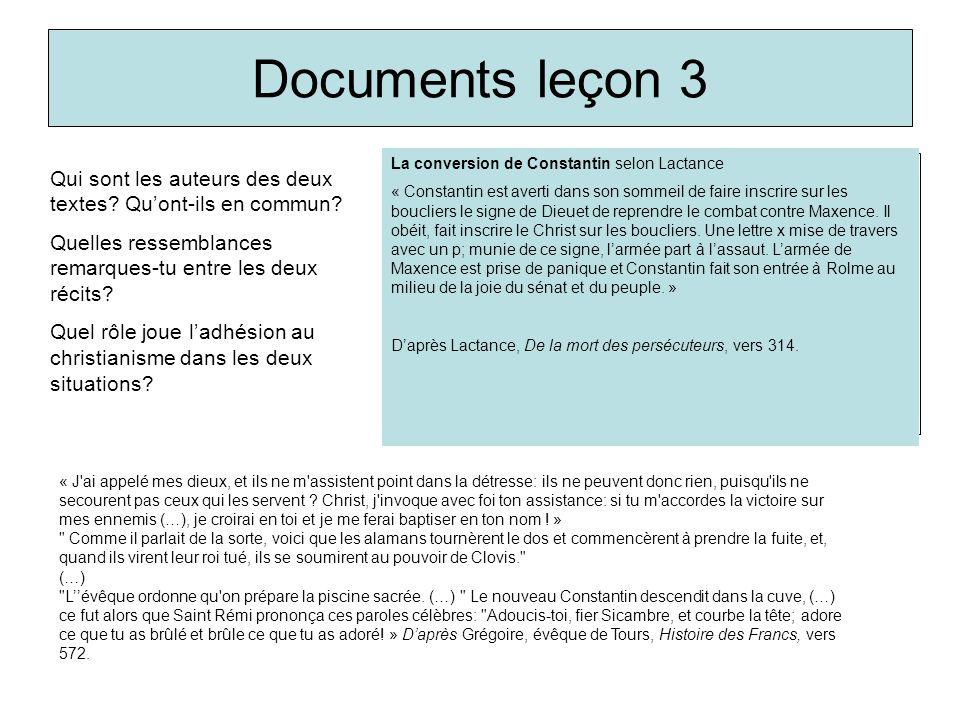 Documents leçon 3 Qui sont les auteurs des deux textes? Quont-ils en commun? Quelles ressemblances remarques-tu entre les deux récits? Quel rôle joue