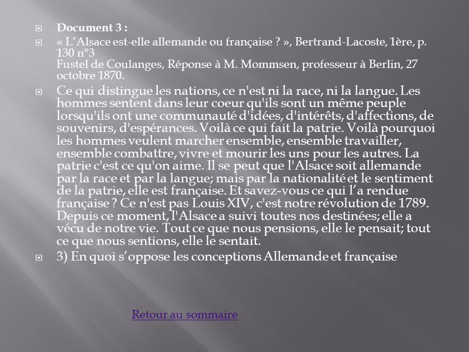 Document 3 : « LAlsace est-elle allemande ou française .