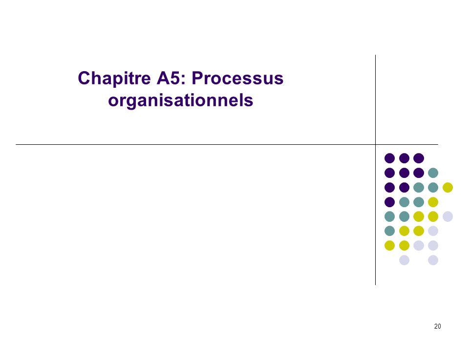 20 Chapitre A5: Processus organisationnels