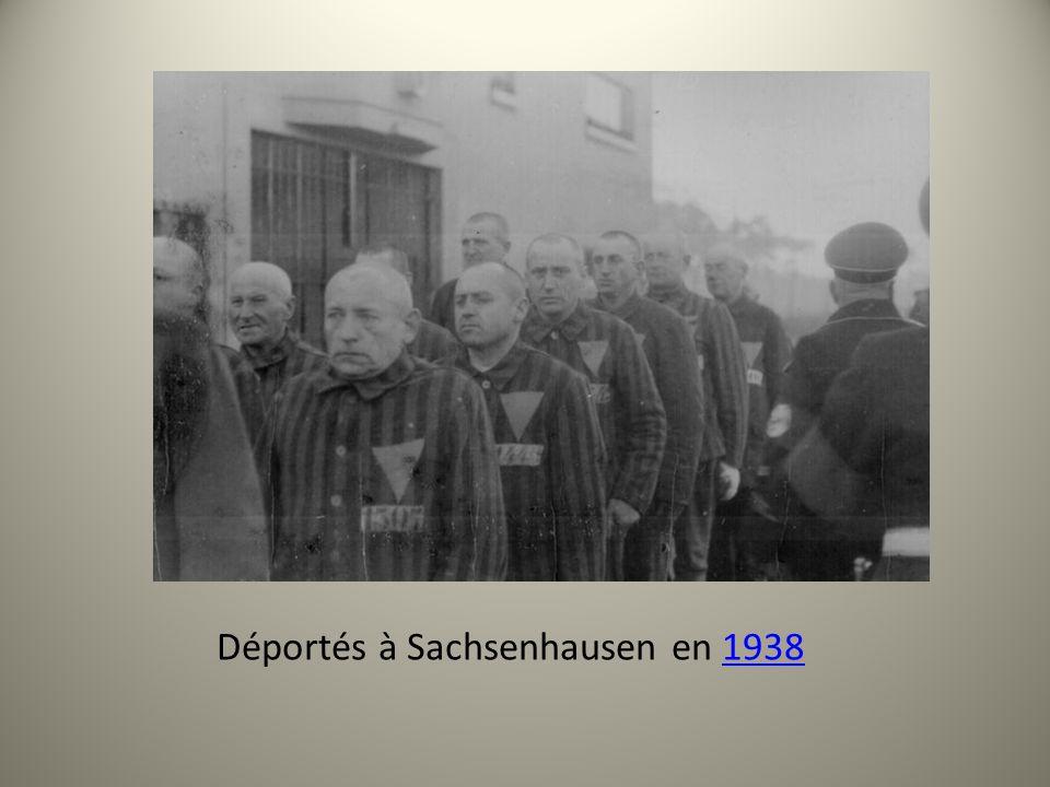 Déportés à Sachsenhausen en 19381938
