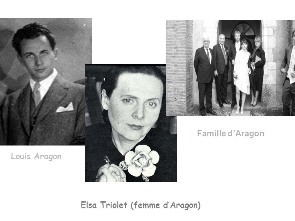 Louis Aragon Elsa Triolet (femme dAragon) Famille dAragon