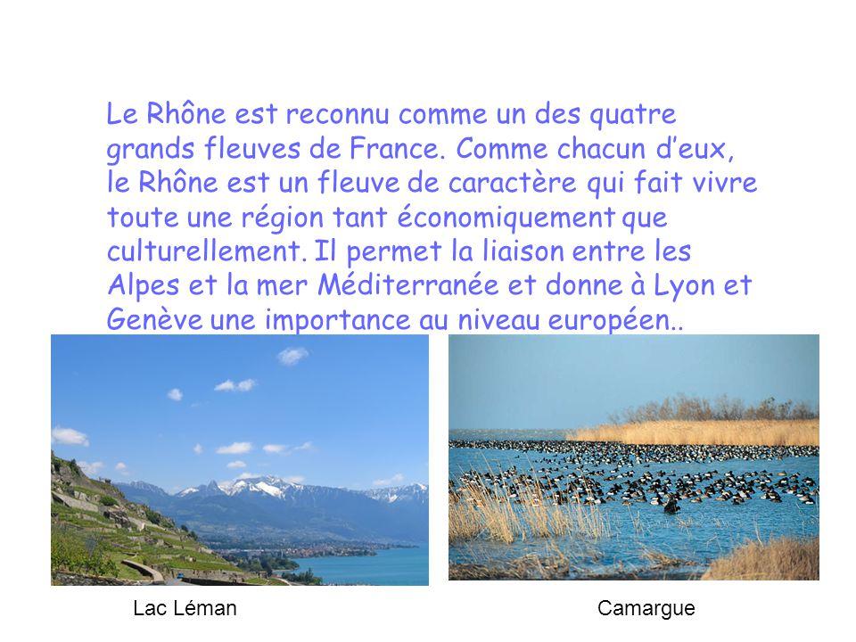 Le Rhône est reconnu comme un des quatre grands fleuves de France. Comme chacun deux, le Rhône est un fleuve de caractère qui fait vivre toute une rég