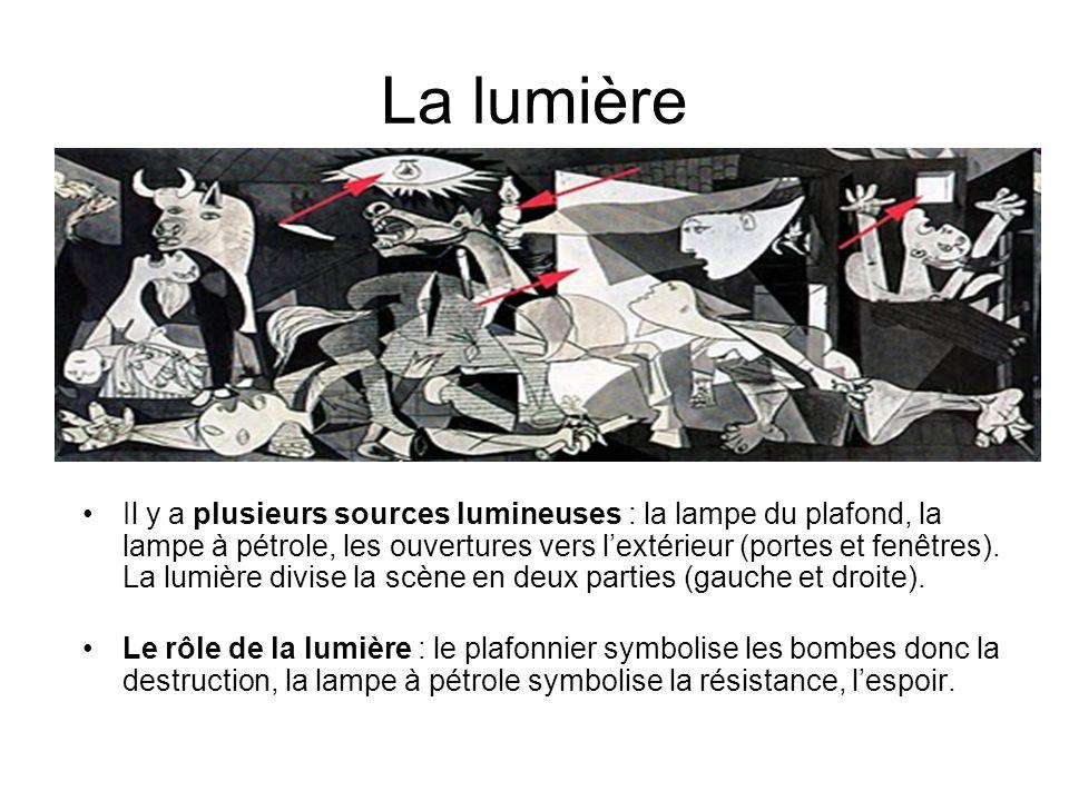 La lumière Il y a plusieurs sources lumineuses : la lampe du plafond, la lampe à pétrole, les ouvertures vers lextérieur (portes et fenêtres). La lumi