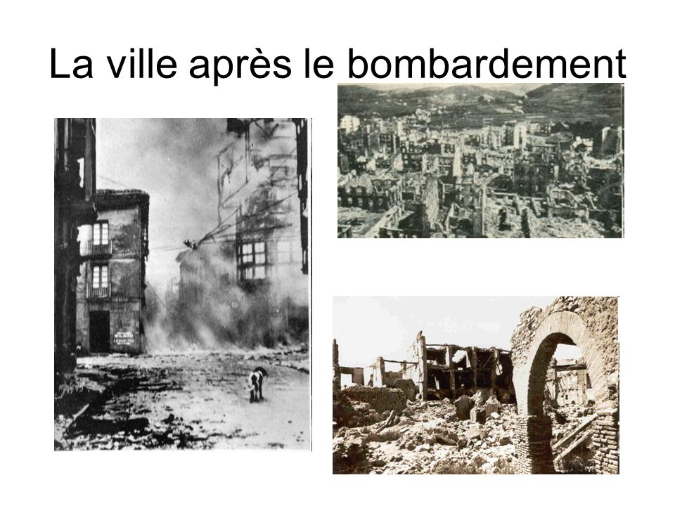 La ville après le bombardement