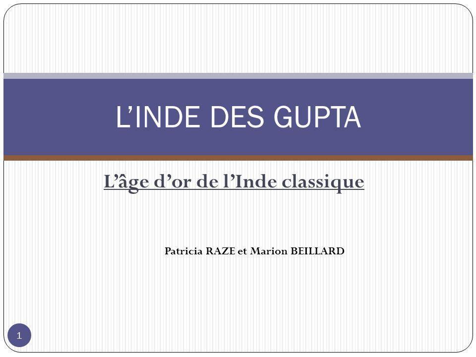 Lâge dor de lInde classique LINDE DES GUPTA Patricia RAZE et Marion BEILLARD 1