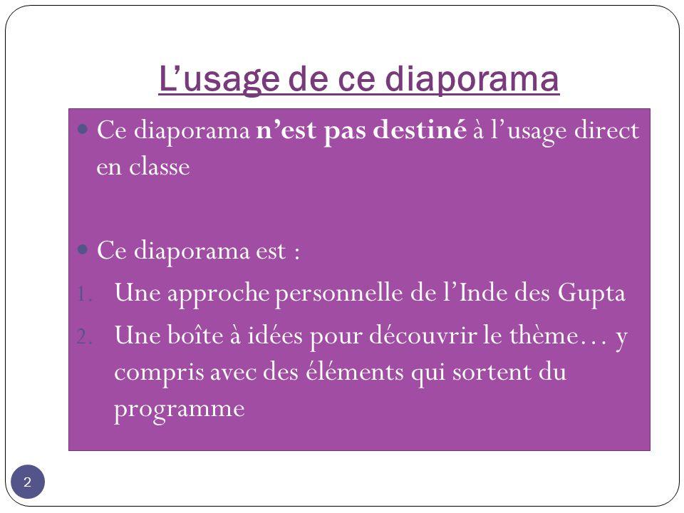Lusage de ce diaporama Ce diaporama nest pas destiné à lusage direct en classe Ce diaporama est : 1.