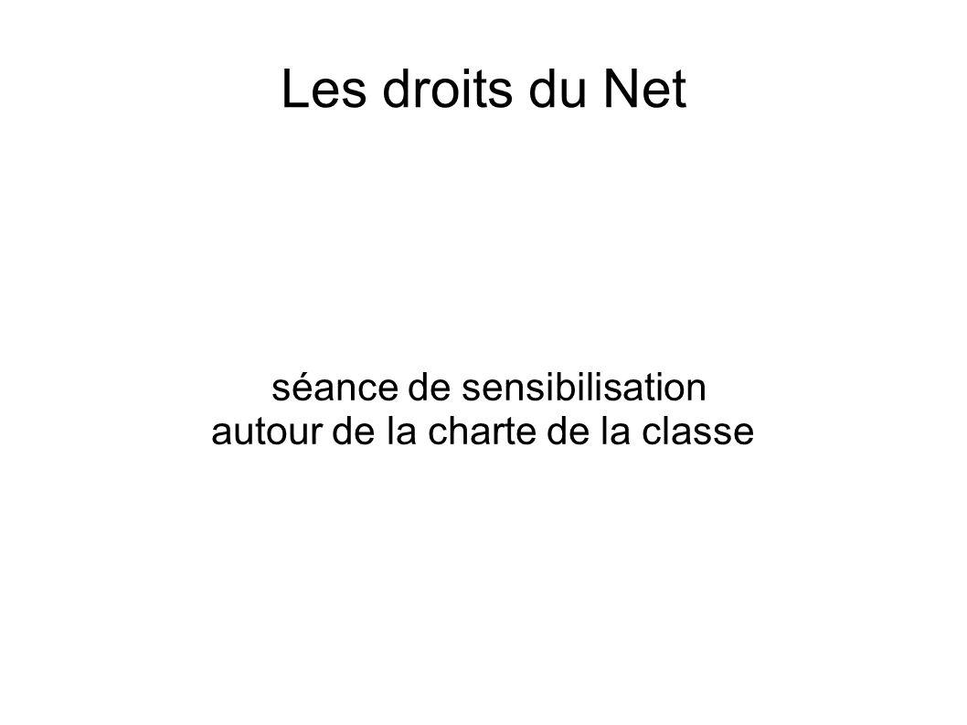 Les droits du Net séance de sensibilisation autour de la charte de la classe