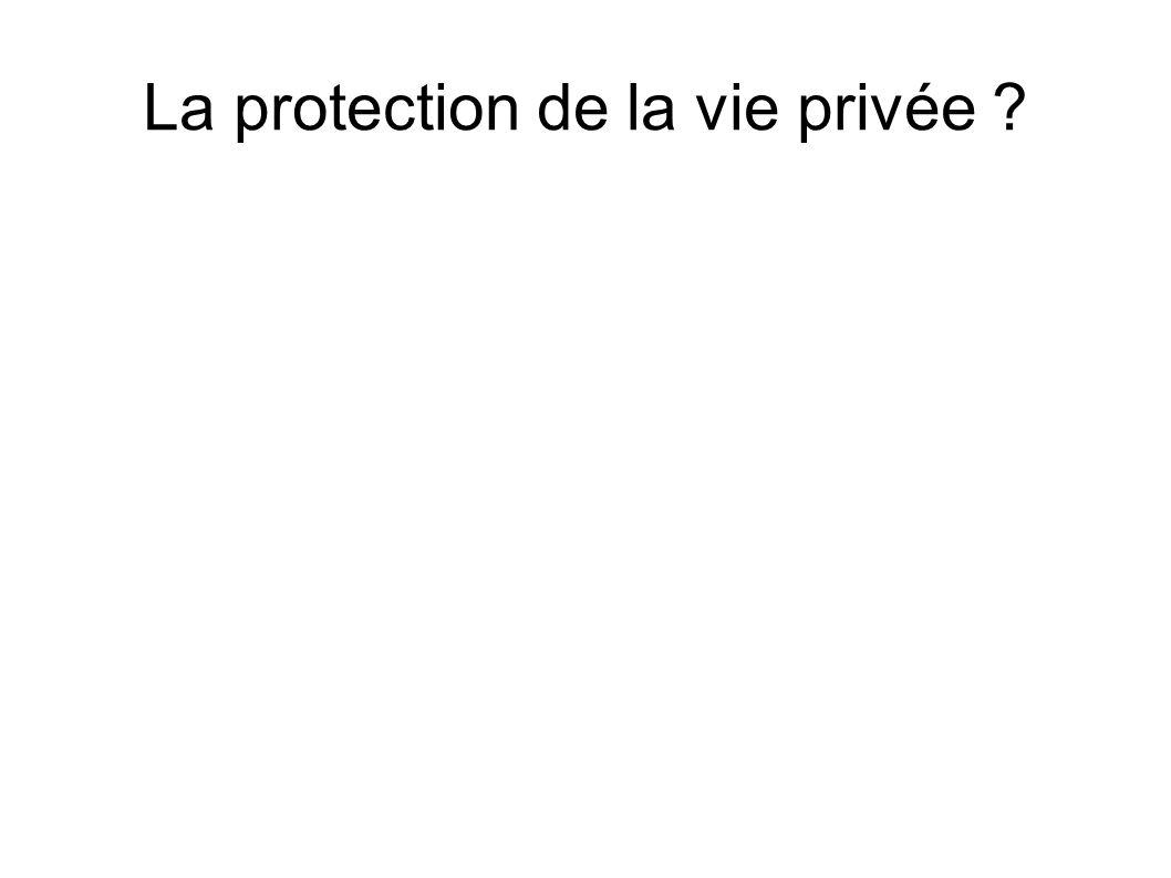 La protection de la vie privée ?