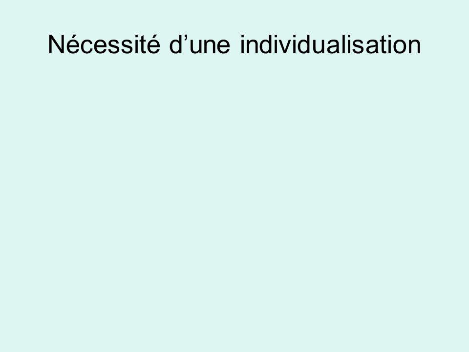 Nécessité dune individualisation