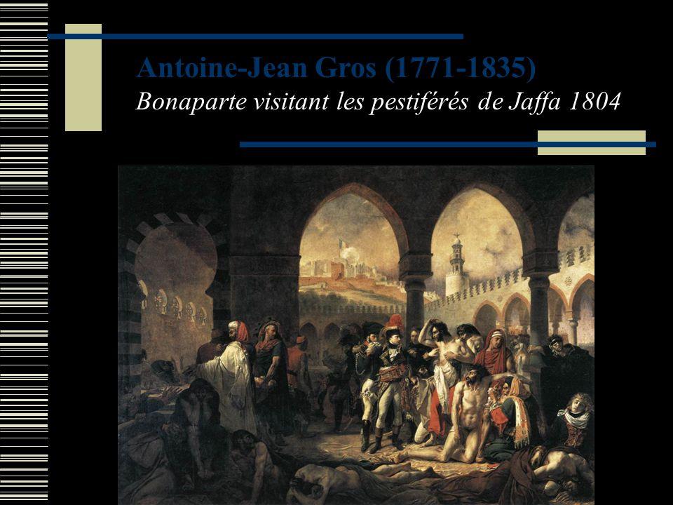 Antoine-Jean Gros (1771-1835) Bonaparte visitant les pestiférés de Jaffa 1804