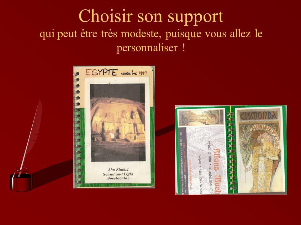 Choisir son support qui peut être très modeste, puisque vous allez le personnaliser !