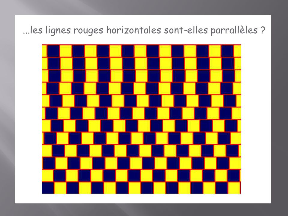 ...les lignes rouges horizontales sont-elles parrallèles ?