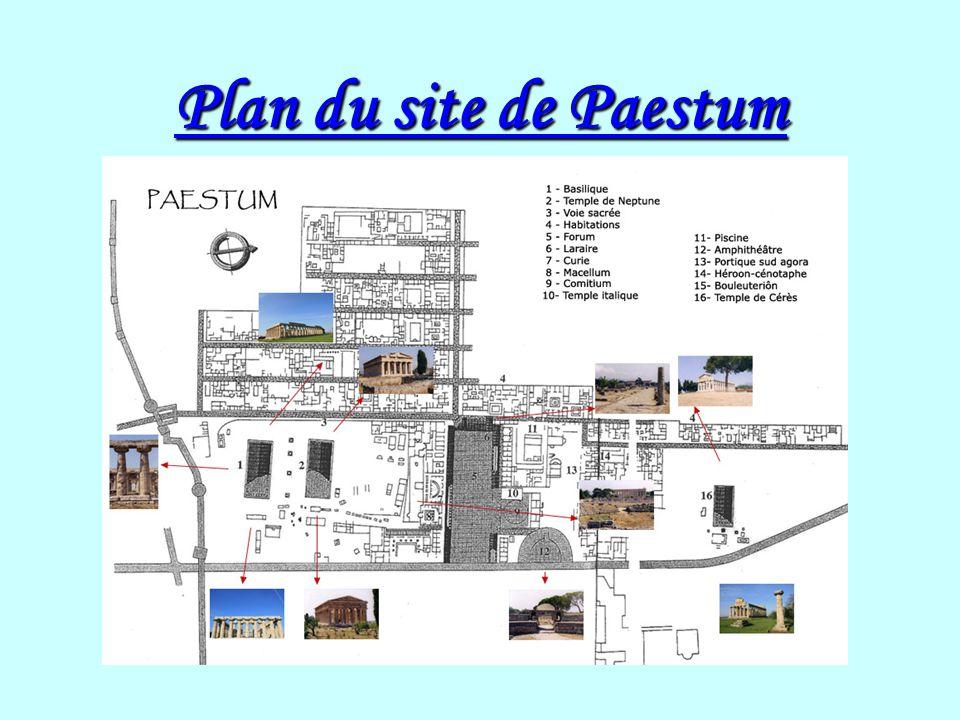 Lhistoire de Paestum La fondation de la cité Paestum est une colonie grecque située à 95 km au sud de Naples, près du golfe de Salerne.