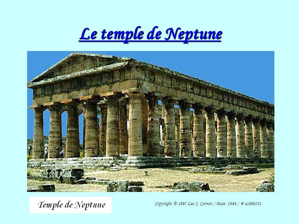 Situation du Temple de Neptune