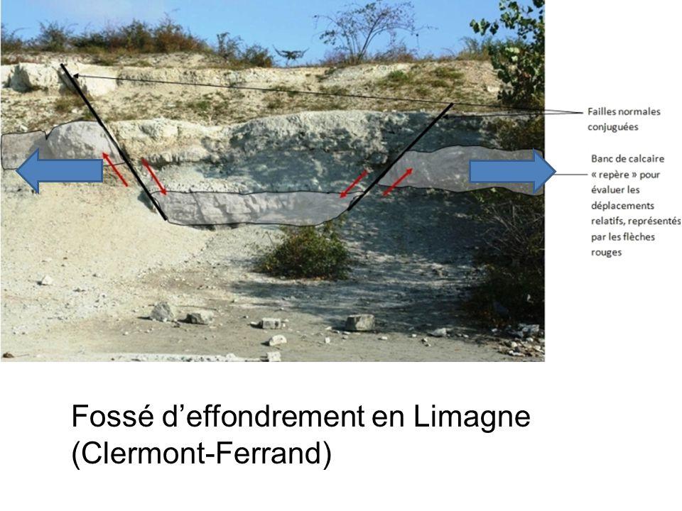 Fossé deffondrement en Limagne (Clermont-Ferrand)