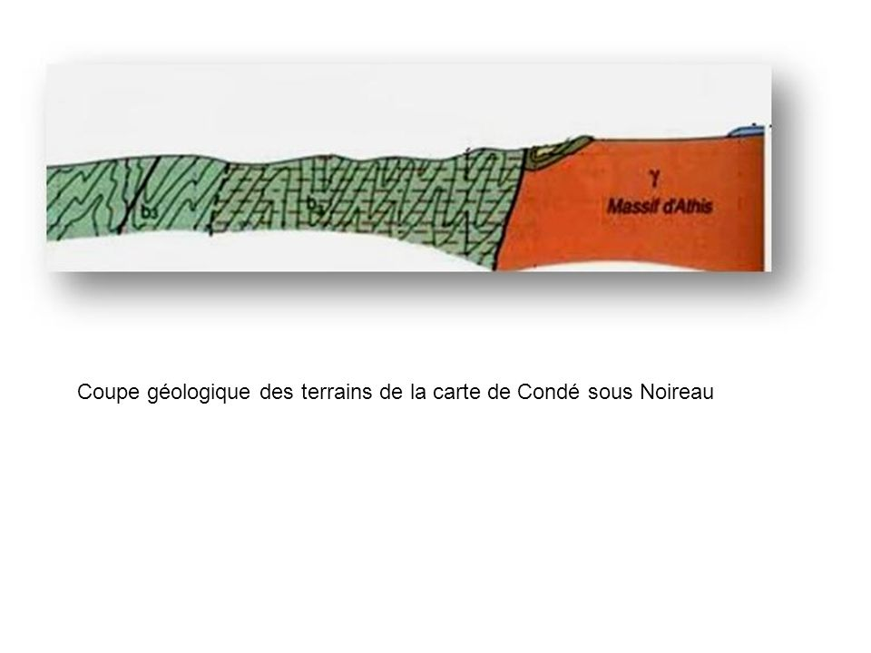 Coupe géologique des terrains de la carte de Condé sous Noireau