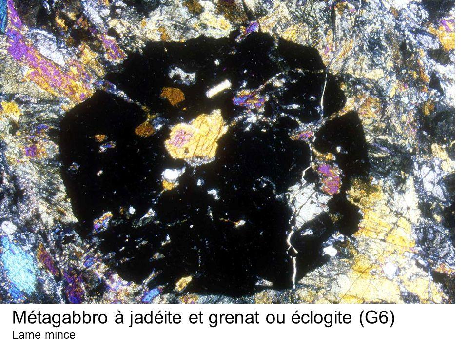 Métagabbro à jadéite et grenat ou éclogite (G6) Lame mince