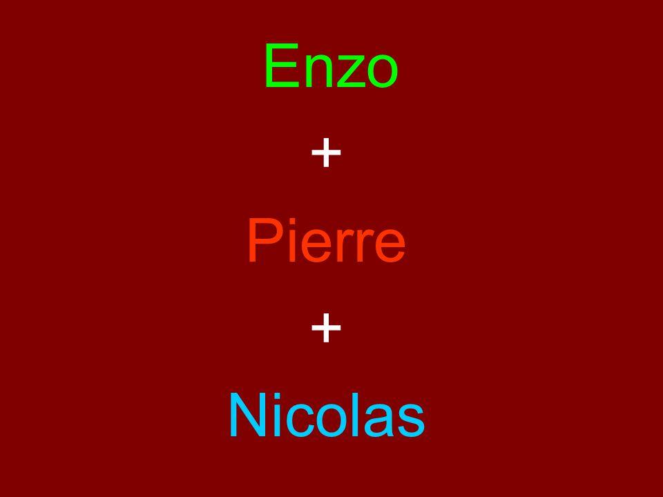 Enzo + Pierre + Nicolas