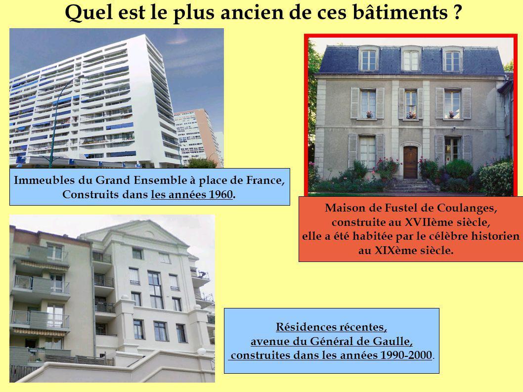 Immeubles du Grand Ensemble à place de France, Construits dans les années 1960. Résidences récentes, avenue du Général de Gaulle, construites dans les