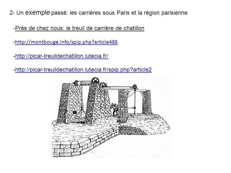 2- Un exemple passé: les carrières sous Paris et la région parisienne -Près de chez nous: le treuil de carrière de chatillon -http://montbouge.info/sp