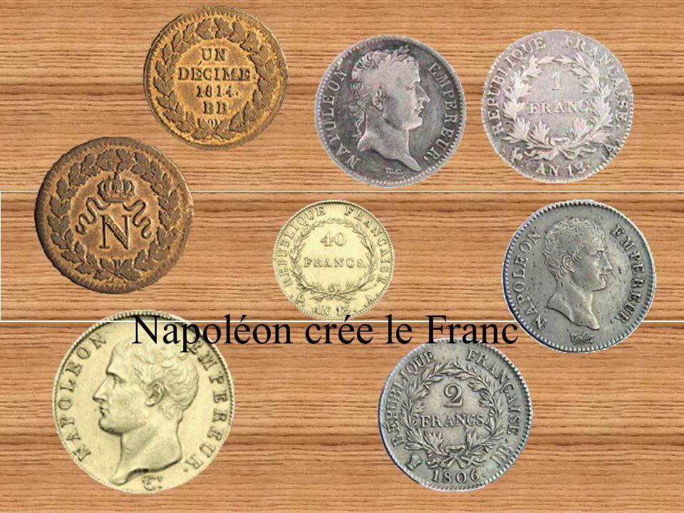 Napoléon crée le Franc