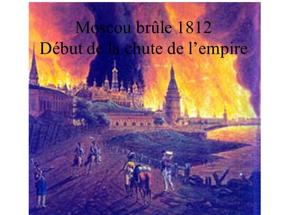 Moscou brûle 1812 Début de la chute de lempire