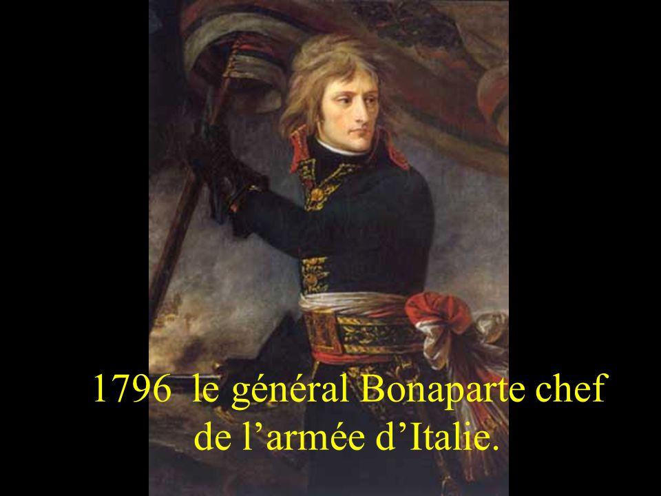 1796 le général Bonaparte chef de larmée dItalie.