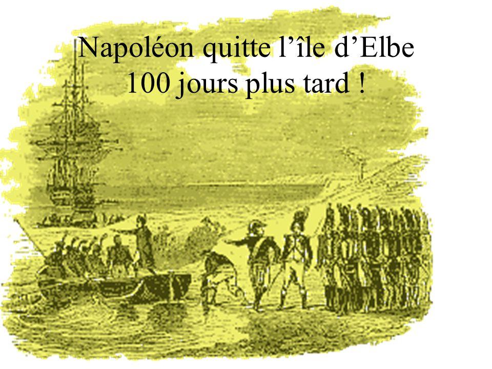 Napoléon quitte lîle dElbe 100 jours plus tard !