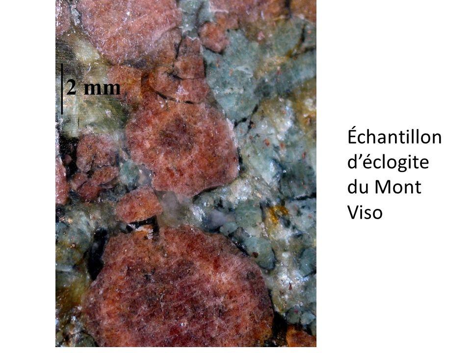 Échantillon déclogite du Mont Viso