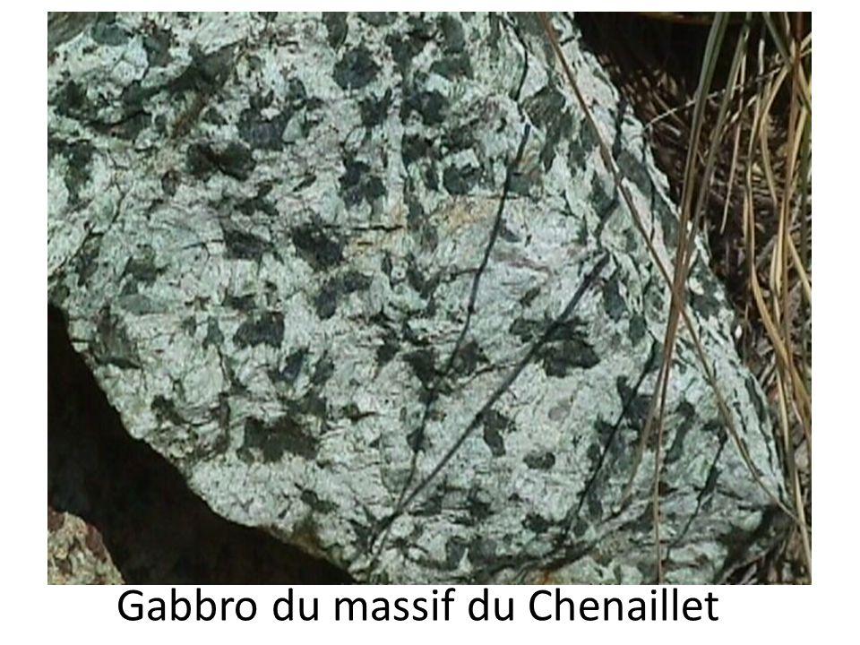 Echantillon de métagabbro du Mont Chenaillet